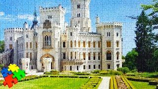 Как собирать пазлы 1000 деталей за 3 минуты. Замок Castorland Puzzle из 1000 элементов.