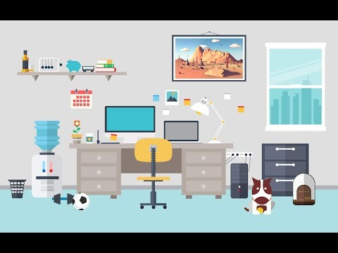 Work Room, Vector flat illustration | Free Download