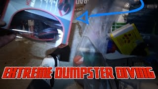 dumpster diving brand new stuff in boxes