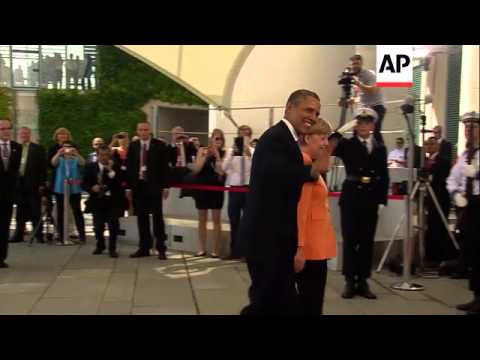 President Obama meets with Chancellor Angela Merkel