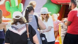 Drew Barrymore And Family Go To The Farmers Market