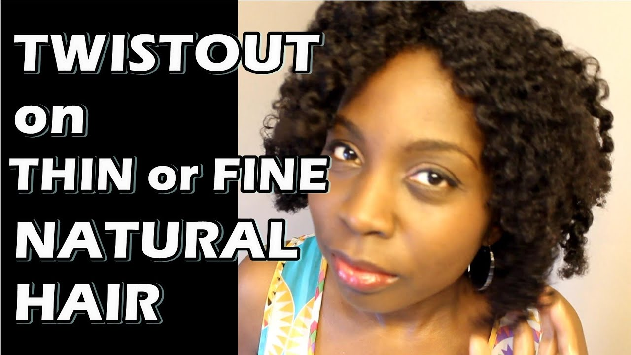 How to Get Fuller Twistout on Thin or Fine Natural Hair