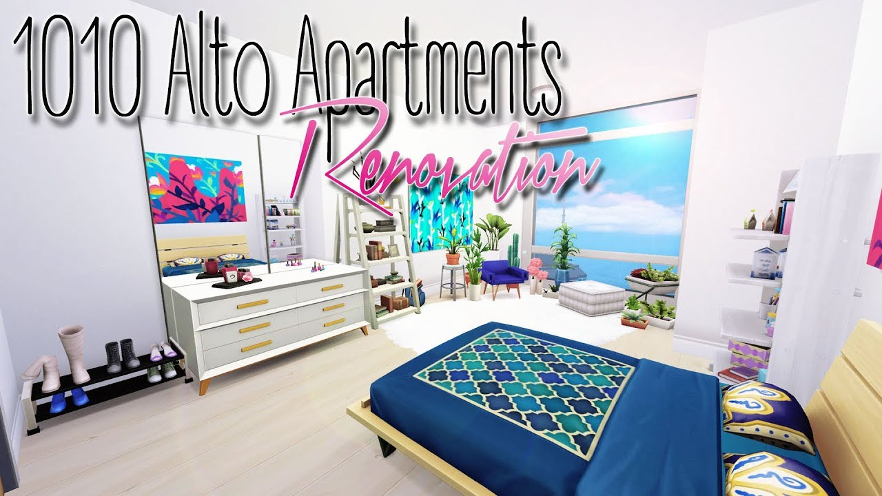 1010 Alto Apartments Renovation Sims 4 Youtube