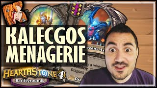 KALECGOS MENAGERIE = TWICE THE BUFFS! - Hearthstone Battlegrounds