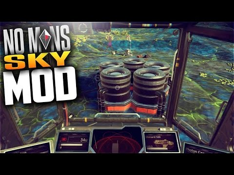 No Man's Sky Mod Spotlight - LOW FLIGHT by Hytek - Fly ship into caves, underwater, or ground level!