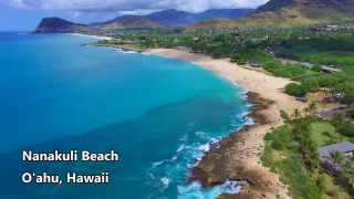 Oahu, Hawaii 4k Drone: Waimea Jumping Rock/Lanikai/Nanakuli