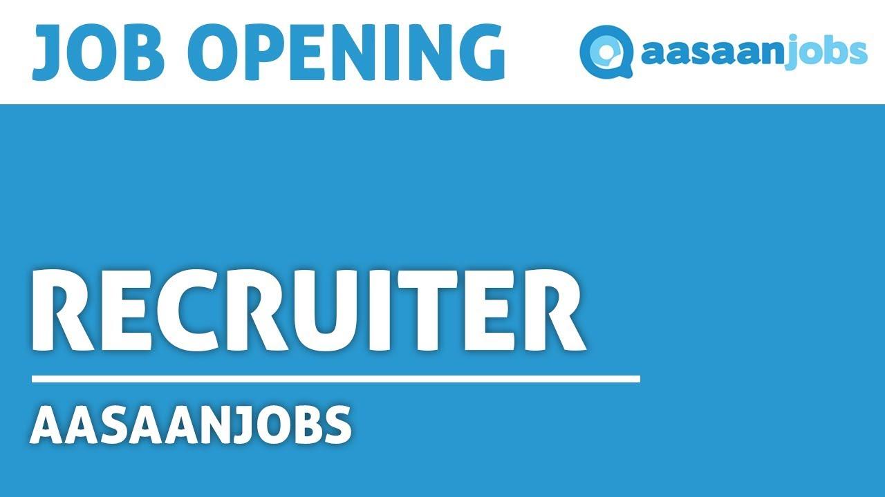 Recruiter Job In Mumbai   Aasaanjobs   Video Job Description