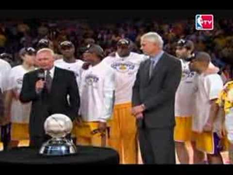 Lakers Win The Western Conference [trophy ceremony]