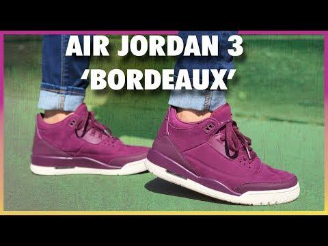 8cd5f0c4b53 Air Jordan 3 'Bordeaux' Review - YouTube