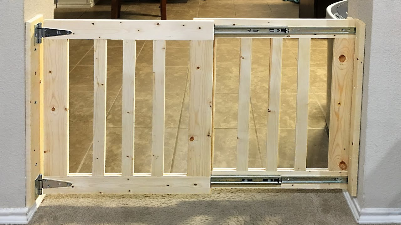 Diy Sliding Baby Gate Youtube