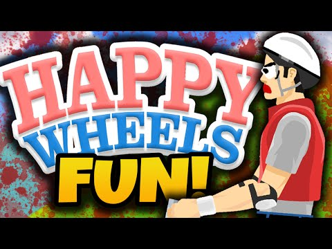 "Happy Wheels Funny Moments! - ""IMPOSSIBLE LEVELS!"" - (Happy Wheels Gameplay)"