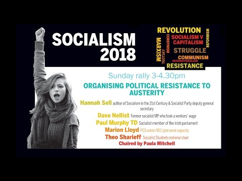 Socialism 2018 Sunday rally