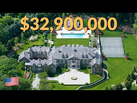 Take a VIP tour through this stunning $40,000,000 private New Jersey mansion!