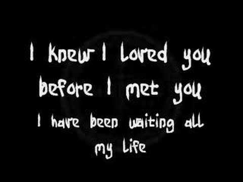 Delightful Savage Garden   I Knew I Loved You (Lyrics)   YouTube