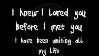 Repeat youtube video Savage Garden - I Knew I Loved You (Lyrics)