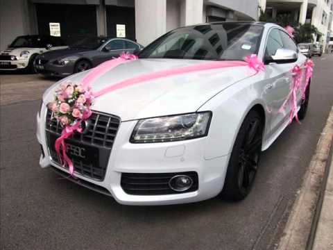 How to decorate white wedding car and black wedding car