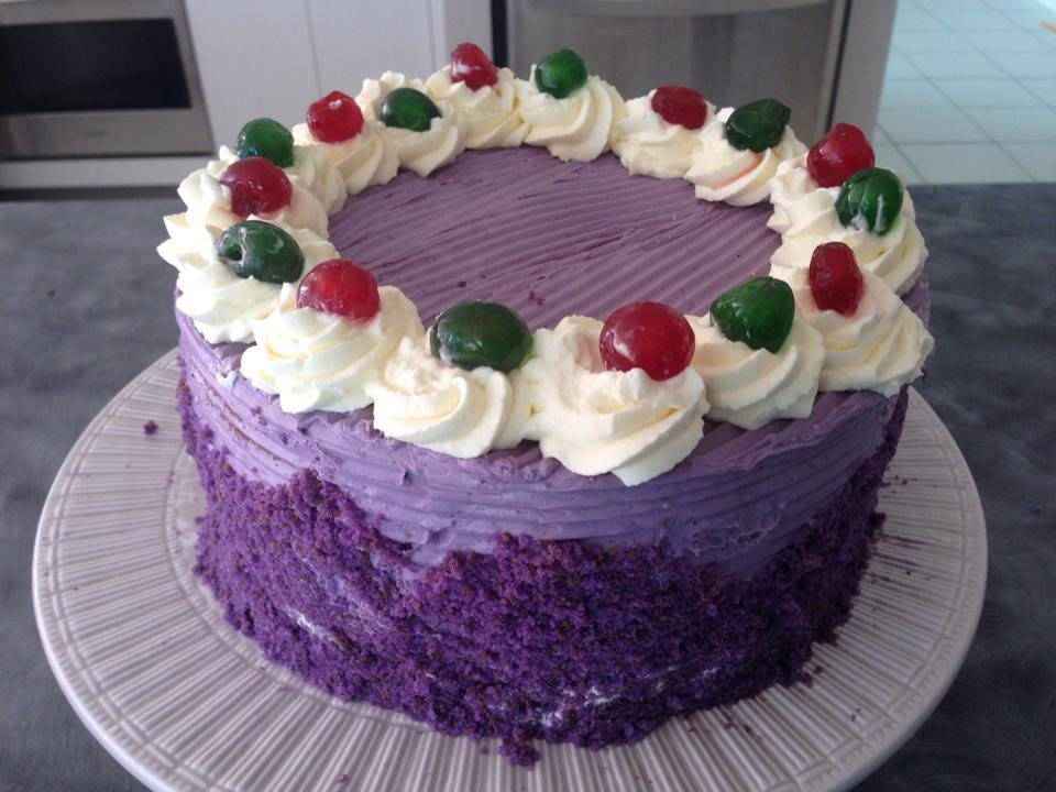 Purple Yam Sponge Cake Recipe