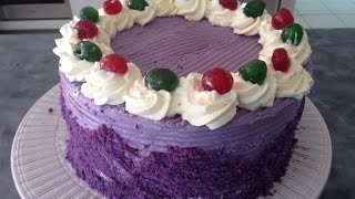 Ube Chiffon Cake