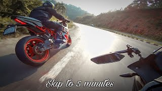 KTM RC200 And Pulsar RS200 In Action
