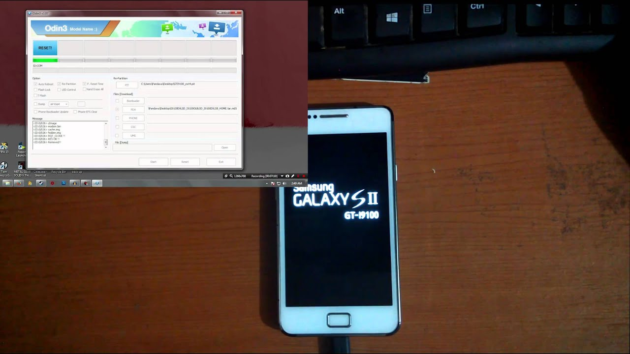 Tutorial Convert SHW-M250K/L Ke GT I9100 (samsung galaxy s2 korean ke  international)