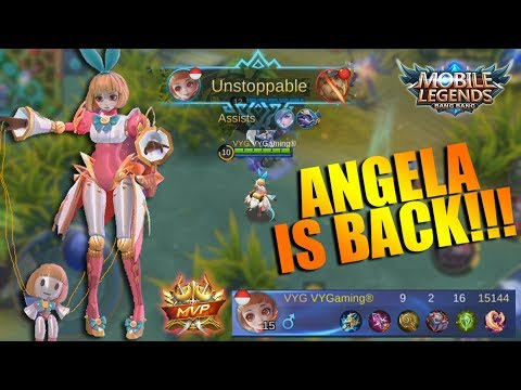 ANGELA IS BACK! Hero Support Ter GG Langsung Auto MVP - Ranked Match (Mobile Legends)