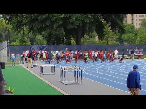 11-12 girls 100m dash finals, Icahn Stadium
