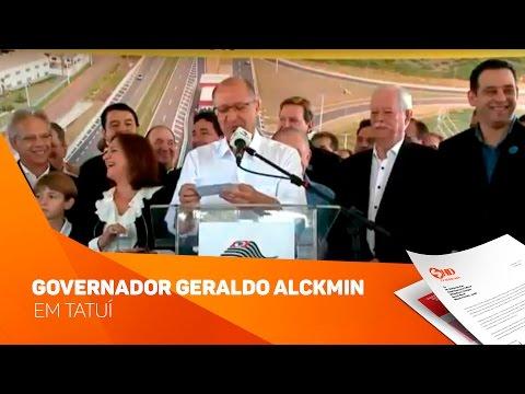 Governador Geraldo Alckmin em Tatuí - TV SOROCABA/SBT