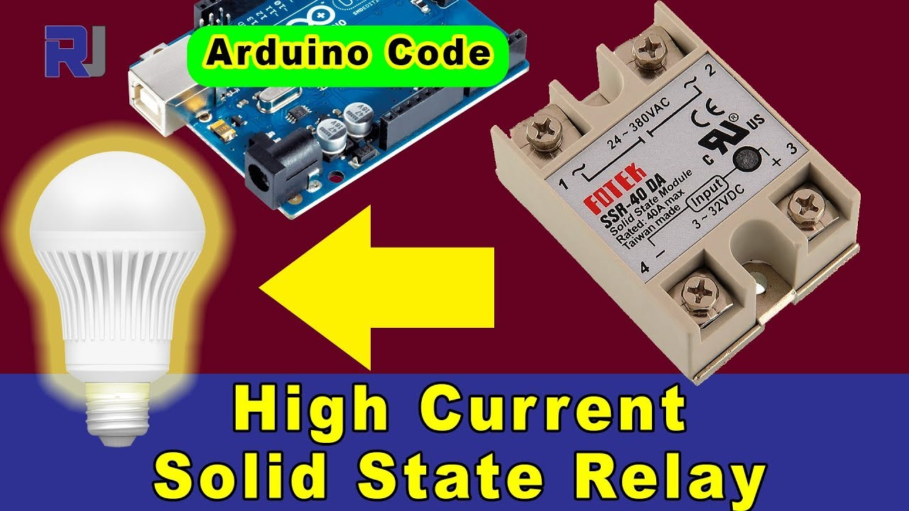 how to use fotek ssr 40 solid state relay with arduino and without arduino [ 1280 x 720 Pixel ]