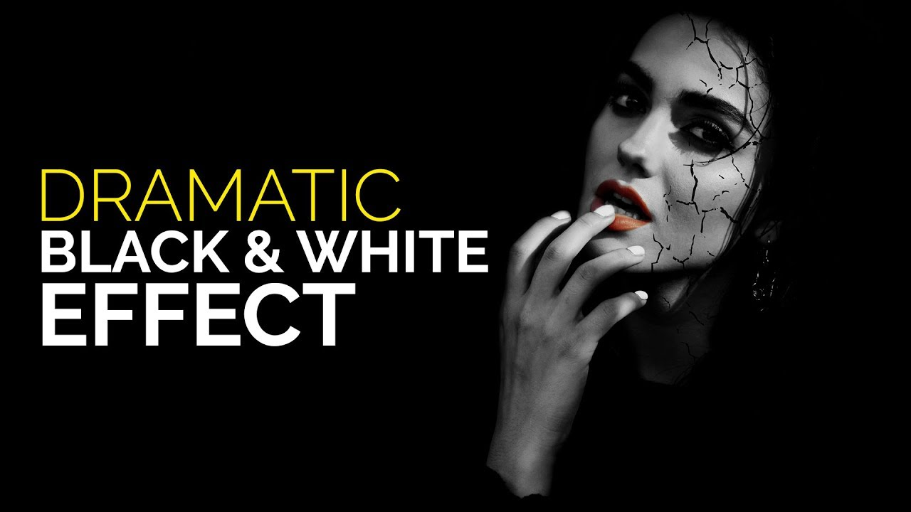 Photoshop tutorial dramatic black and white portrait photo effects