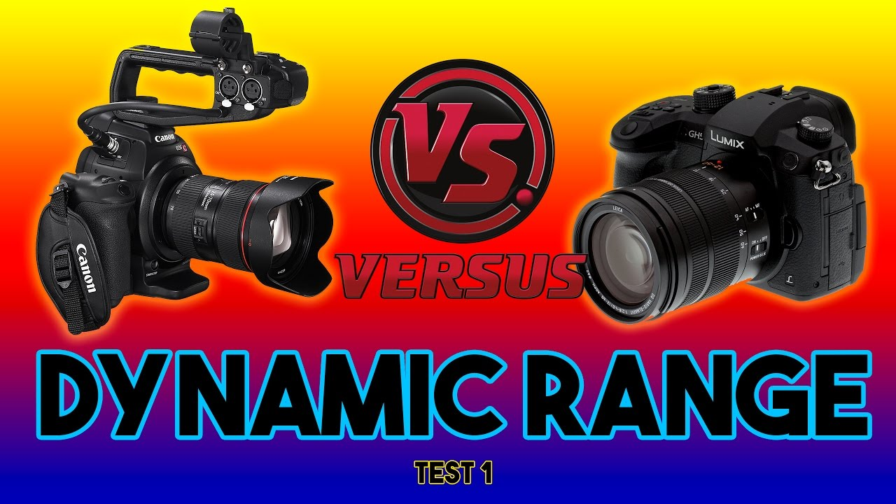 GH5 VS C100 DYNAMIC RANGE TEST CINELIKE D VS WIDE DR