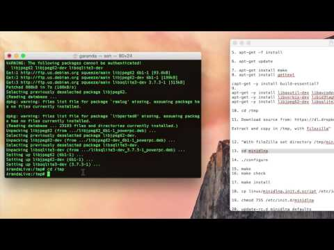 Video tutorial install minidlna My Book Live (Firmware. 02.43.03-022)