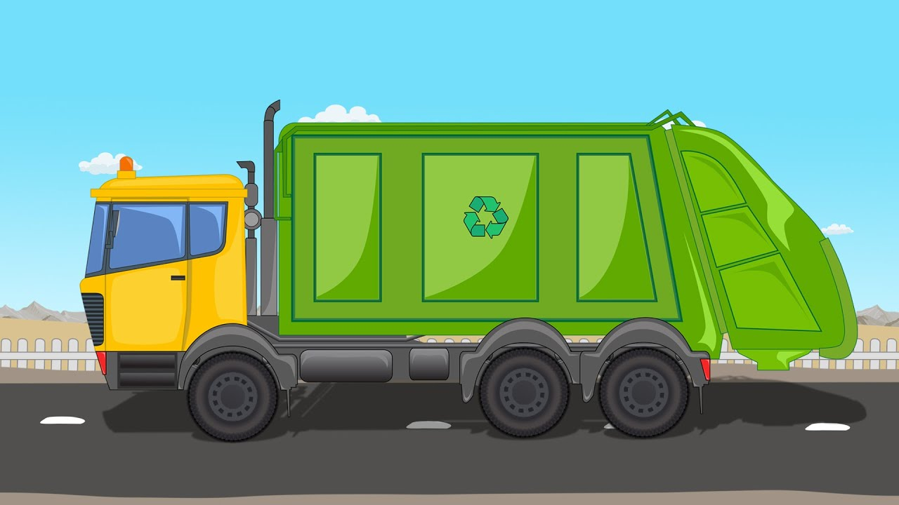 garbage truck truck for kids kids vehicles youtube
