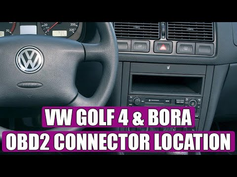 wn vw golf mk4 diagnostic obd2 port location video. Black Bedroom Furniture Sets. Home Design Ideas
