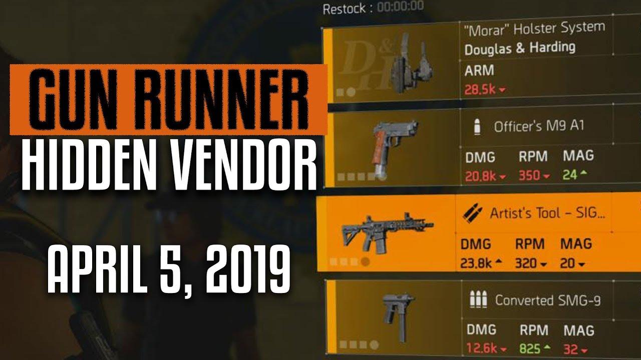 The Division 2 | Gun Runner Reset | Hidden Vendor | New Named Weapon for  Sale
