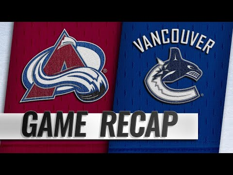 Pettersson, Canucks beat Avs in back-and-forth affair