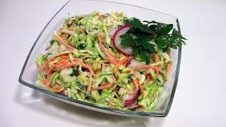 """Салат """"Весеннее настроение"""" / Очень вкусный, лёгкий, витаминный,  простой пошаговый рецепт"""