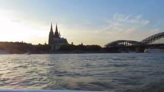 Köln Bootsfahrt Sonnenuntergang Dom Liebe deine Stadt