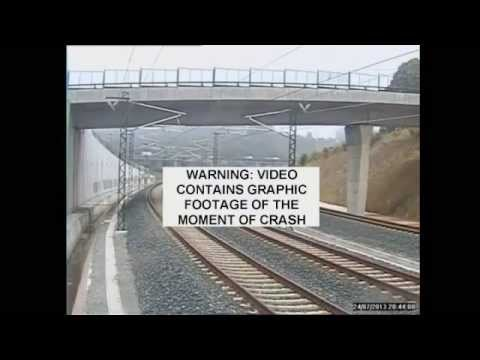 CCTV Footage of Spain AVE Galicia Train Crash Emerges
