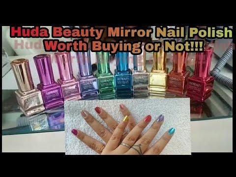 Huda Beauty Mirror Nail Polish Chrome Effect Review Youtube