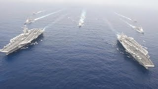 Two U.S. Aircraft Carriers Sail In Philippine Sea Side By Side