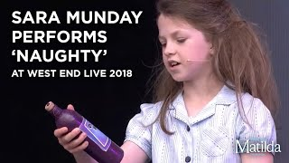 Sara Munday performs at West End Live 2018