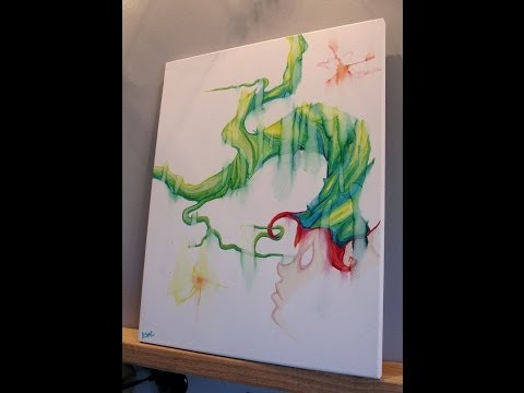 How To Paint Abstract Surreal Painting – Tree