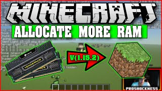 Minecraft More RAM | H๐w To Allocate More Ram | v1.15.X | 2020 |