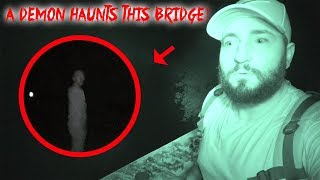 THE DEMON OF HAUNTED BURNT BRIDGE ROAD! IT MADE AN APPEARANCE