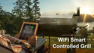 WiFi Smart Controlled Pellet Grill - Green Mountain Grills