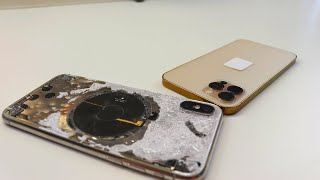 Transforming an iPhone X into a GOLD iPhone 12 Pro