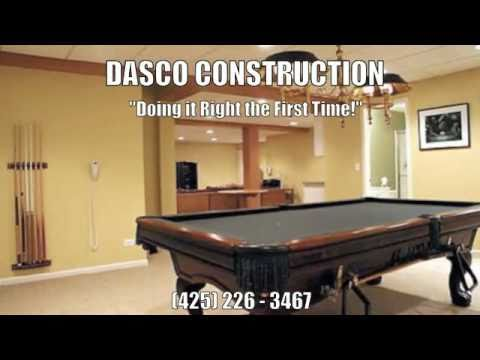 Basement Remodeling Refinishing Bellevue WA Dasco Construction