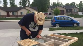 Building A Rabbit Hutch For Less Than $50.00 (short Version)