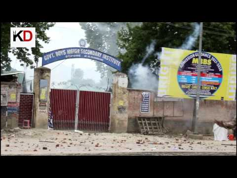 Students protest again in Sopore on Thursday