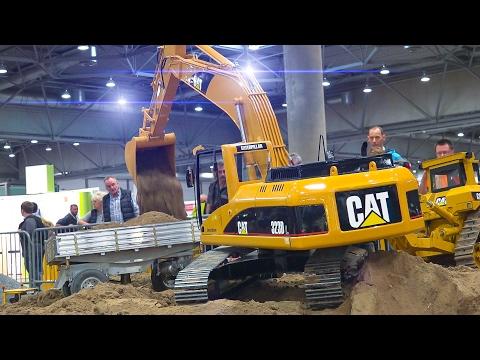 MEGA RC MODEL CONSTRUCTION SITE ACTION *RC TRUCKS*RC EXCAVATOR*SCANIA*MAN*MB ACTROS
